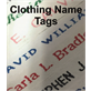 Clothing Name Tags