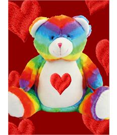 Personalised Plush Rainbow Bear