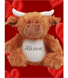 Personalised Plush Cow