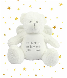 Personalised Plush Angel Bear