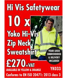 10x Hi-Vis Sweatshirts
