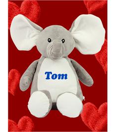 Personalised Plush Elephant