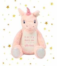 Personalised Plush Unicorn
