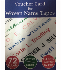 Woven Name Lables (Sew-on) Clothing Labels 72