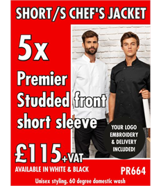 5x Chefs Jackets