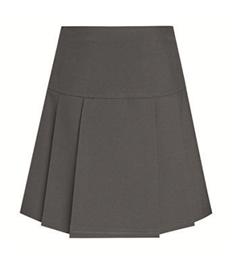 Drop Waist Pleated Skirt