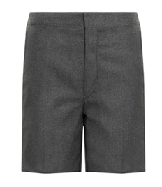 Cedars School Flat Front Shorts with elastic back