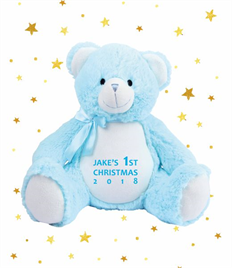 Personalised Plush Blue Bear